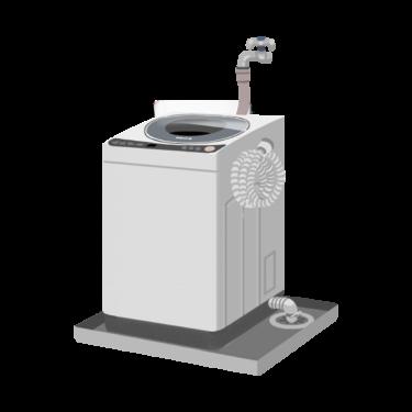 設置された洗濯機