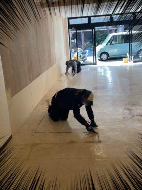 新店舗清掃の様子